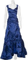 Nicole Miller Tiered Sleeveless Gown