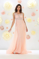 May Queen - Sleeveless with Pearl and Rhinestone Embellishment A-line Dress RQ7469