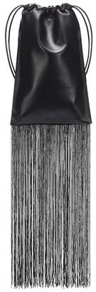 Jil Sander Fringed leather pouch