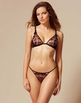 Agent Provocateur Petra Thong Black And Cinnamon