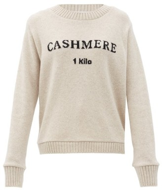 The Elder Statesman 1 Kilo-intarsia Cashmere Sweater - Ivory
