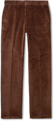 Ami Green Cotton-Corduroy Suit Trousers