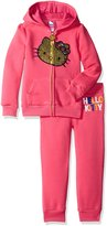 Hello Kitty Big Girls' Active Set with Sliver Sequin Applique with Rainbow Sequin Bow