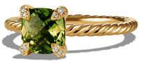 David Yurman Châtelaine Peridot Ring with Diamonds, Size 6