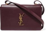 Saint Laurent Monogramme Dylan Leather Shoulder Bag - Burgundy