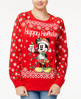 Freeze 24-7 Juniors' Light-Up Mickey Mouse Holiday Sweatshirt