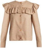 See by Chloe Ruffle-trimmed wool-blend shirt
