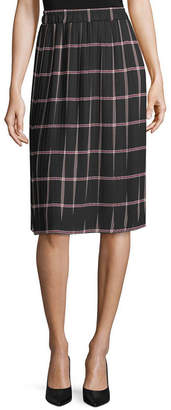 Liz Claiborne Womens Midi Pleated Skirt