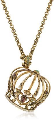Alcozer & J Golden Brass Little Goddess Necklace
