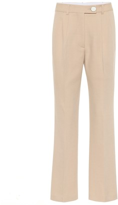 Victoria Beckham High-rise straight wool pants