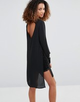 Vero Moda Shirt Dress with Slits and Keyhole Back