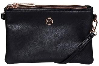 Mocha Mini Triple Jessie Crossbody Bags - Black
