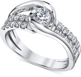Sirena Diamond Two-Row Engagement Ring (7/8 ct. t.w.) in 14k White Gold