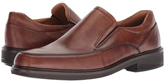 Ecco Holton Apron Toe Slip-On (Black) Men's Shoes