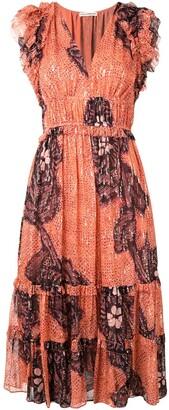 Ulla Johnson Floral Embroidered Midi Dress