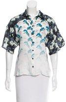 Rebecca Minkoff Silk Floral Print Top w/ Tags
