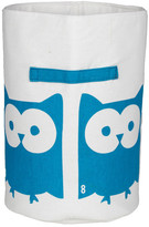 EIGHTMOOD Owl Textile Storage - White/Turquoise
