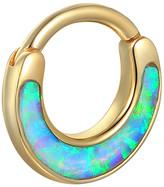 Pamela Love Opal Inlay Clicker Single Hoop Earring - Yellow Gold