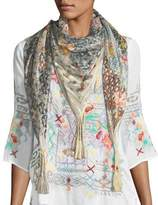 Johnny Was Puzzle Silk Georgette Scarf