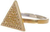 Anna Beck 18K Gold Plated Sterling Silver Textured Triangle Ring