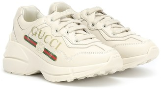 Gucci Kids Rhyton leather sneakers
