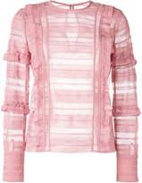 Self-Portrait grid blouse