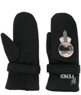 Fendi Karl embroidered gloves