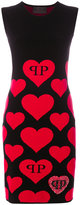Philipp Plein heart print dress - women - Polyester/Viscose - XS