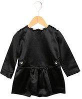 Burberry Girls' Satin Long Sleeve Dress