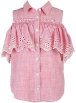 Speechless Short Sleeve Button-Front Shirt - Girls
