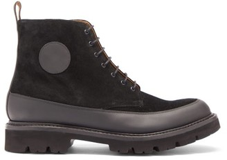 Grenson Anton Lace-up Suede Boots - Black