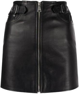 Manokhi Leight leather mini skirt