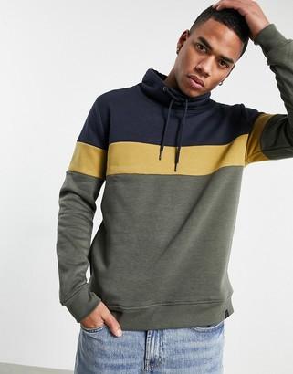Soulstar Buttoned Detail Space Dye Sweatshirt   Mens Size