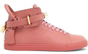 Buscemi Embellished Textured-Leather High-Top Sneakers