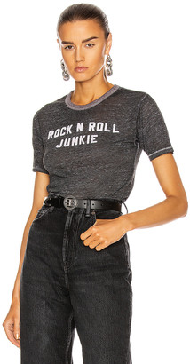 R 13 Rock N Roll Junkie Skate Tee in Heather Grey | FWRD