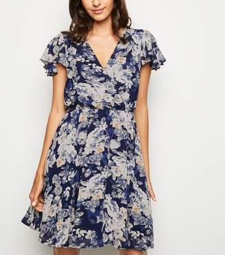 New Look Mela Floral Wrap Dress