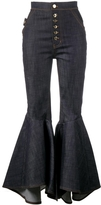 Ellery Hysteria Flared Cropped Jeans