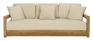 O'Kean Teak Patio Sofa with Cushions Greyleigh