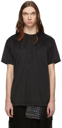 Comme des Garçons Homme Plus Black Jersey Foil Print C T-Shirt