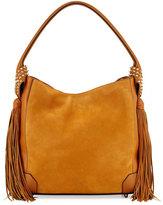 Christian Louboutin Eloise Fringe Leather Hobo Bag, Tan