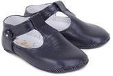 Rachel Riley Navy Leather Crib Shoes