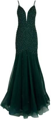 Jovani Embellished Trumpet Gown