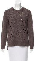 Michael Kors Grommet Embellished Cashmere Sweater
