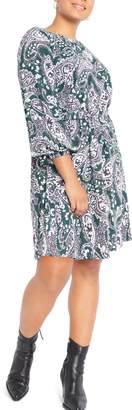 ELOQUII Paisley Easy Dress