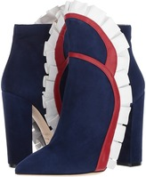 Racine Carree - Vivian Flare Ruffle Ankle Boot w/ Printed Rose Women's Shoes