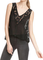 Plenty by Tracy Reese Lace Paneled Tank