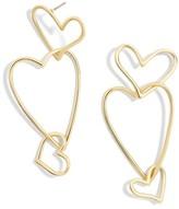 BaubleBar Women's Minimal Heart Drop Earrings