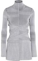 Proenza Schouler Plated-Knit Turtleneck Sweater