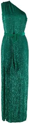 retrofete one shoulder embellished dress