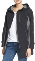 Kristen Blake Women's Hooded Two-Tone Zip Front Jacket